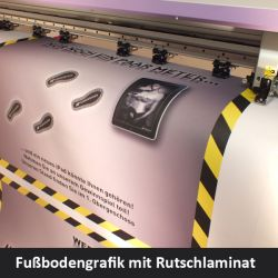 Floor graphics Bodenaufkleber
