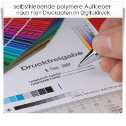 Digitaldruck Aufkleber polymer