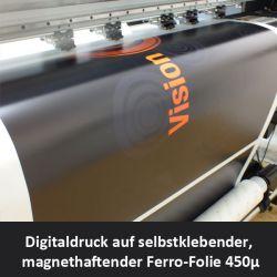 Digitaldruck auf eisenhaltiger Ferro-Folie