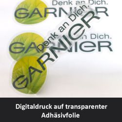 Digitaldruck auf transparenter Adhäsionsfolie