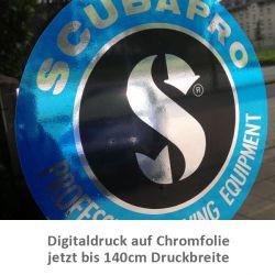 Digitaldruck auf Chromfolie