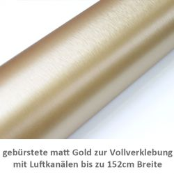 gold gebürstet Car Wrapping Folie