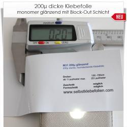 200µ dicke Klebefolie mit Block Out Schicht