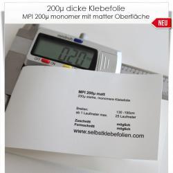 200µ dicke Klebefolie weiß matt