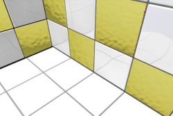 Gold Spiegel Fliesenaufkleber 1m²
