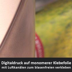 monomere weiß glänzende Digitaldruckfolie mit Luftkanälen