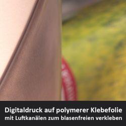 polymere weiß glänzende Digitaldruckfolie mit Luftkanälen