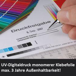 Digitaldruck auf weißer Klebefolie