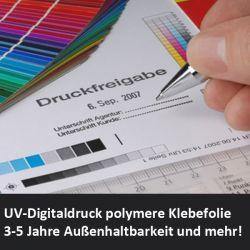Digitaldruck auf polymerer Klebefolie