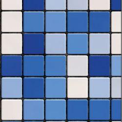 blaue Mosaik Fliesenfolie