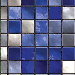 blaue Perlmutt Mosaik Fliesenfolie