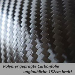 polymere Car Wrapping Carbonfolie schwarz