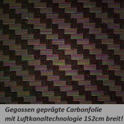 Car Wrapping Carbonfolie schwarz