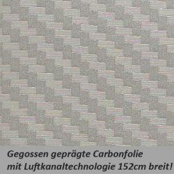 Car Wrapping Carbonfolie silber grau
