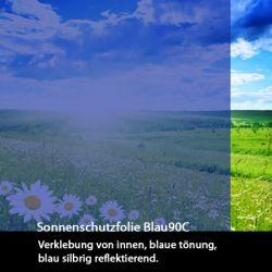 Sonnenschutzfolie blau 90c