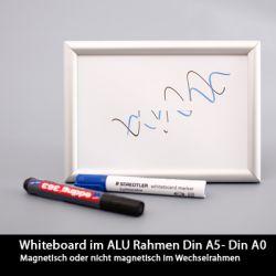 Ferromagnetisches Whiteboard im Alurahmen