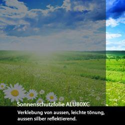 Zuschnitt Sonnenschutzfolie aussen ALU 80xc