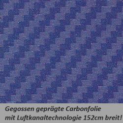 Carbonfolie blau
