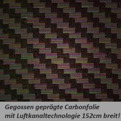 Carbonfolie schwarz