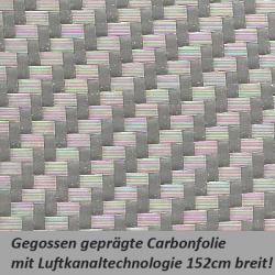 Carbonfolie silber
