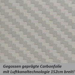 Carbonfolie silber grau