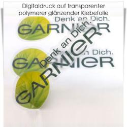 Digitaldruck auf transparenter Klebefolie polymer matt