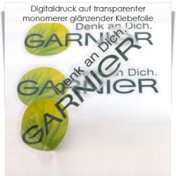 Digitaldruck auf transparenter Klebefolie monomer matt