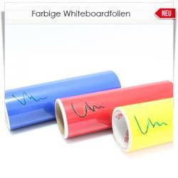 Farbige Whiteboardfolie matt oder glänzend