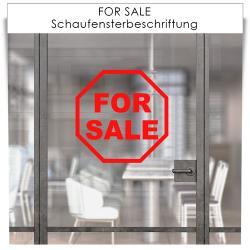 FOR SALE Schaufensterbeschriftung