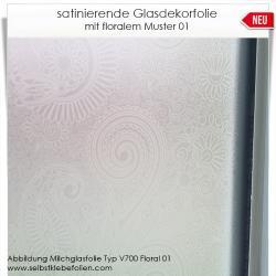 Glasdekorfolie mit Floralem Muster 01