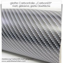 glatte Carbonfolie Typ 03 matt und glänzend