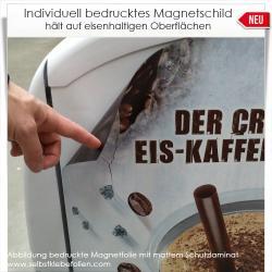 individuell bedruckte Magnetschilder