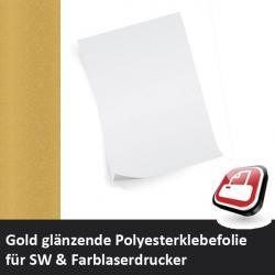 Klebefolie für Laserdrucker gold glänzend A4