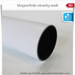 Magnetfolie einseitg weiß matt
