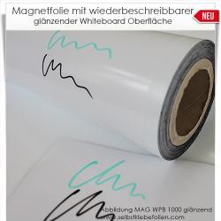 Magnetschilder mit Whiteboardoberfläche glänzend