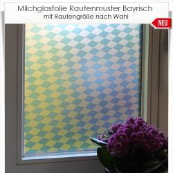 Milchglasfolie Rautenmuster Bayrisch