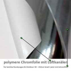 polymere Chromfolie mit Luftkanaelen