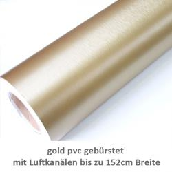 PVC gebürstet gold