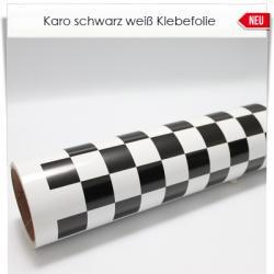 schwarz weiß Karo Klebefolie
