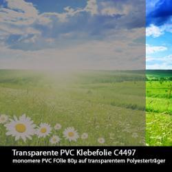 Transparente Klebefolie farbig 61,5cm