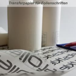 Übertragungspapier für Folienschriften 60cm Breit