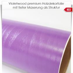 Violetwood premium Holzdekorfolie