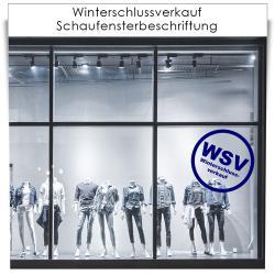 Winterschlussverkauf Schaufensterbeschriftung