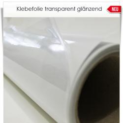 XXL transparente Klebefolie 200cm Breite glänzend