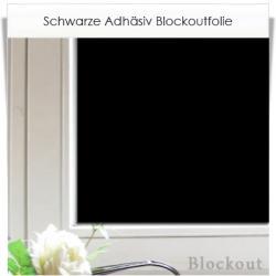 Zuschnitt aus schwarzer Adhäsionsfolie mit Blockout