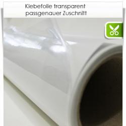 Zuschnitt monomer transparente Klebefolie