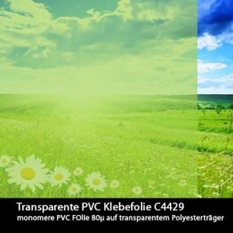 Transparent farbige Klebefolie