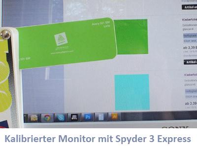 Farbwiedergabe bei kalibrierten Monitoren